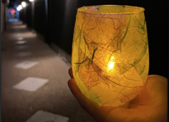 ガラスコップ照明 500円(税込)