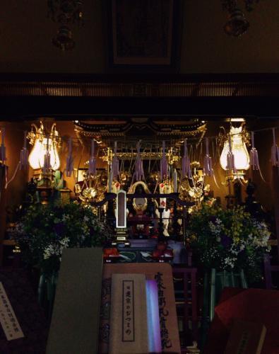 本昌寺 夜の本堂